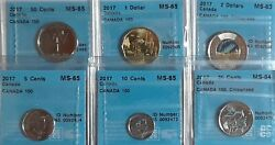 2017 Canada 150 6 Coin Collection With Official 50 Cent Piece All Cccs Certified