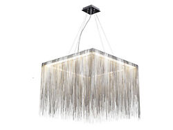 Fountain Ave. Collection Chrome Jewelry Square Hanging Fixture