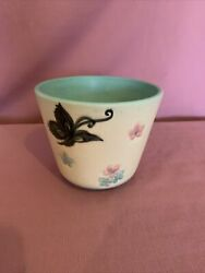Hull Vase/planter B5 W/ Butterflies And Flowers 1950's Ag