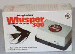 Vintage Nos Second Nature Whisper 300 Air Pump 1995 New Sealed 15 Gallon