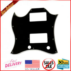 5 Ply Black Left Handed Guitar Scratch Plate Pickguard Fit Gibson Sg Guitars