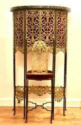 1920s Art Deco Bronze And Marble Telephone Stand With Chair Oscar Bach Style