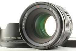 【 Mint W/ Hood 】 Contax Carl Zeiss Planar T 80mm F/2 Lens For 645 From Japan