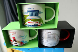 Starbucks You Are Here Collection İstanbul Cup Turkey Mug Xmas Christmas