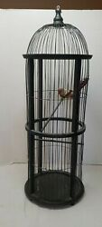 Vintage Victorian Wooden Bird Cage Domed Cathedral Taj Mahal Style 26