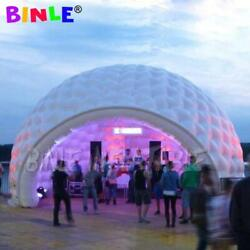 Attractive 8m Giant Igloo Dome Inflatable Tent With Led And Blower For Outdoor P