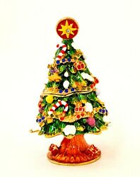 Ciel Collectables Christmas Tree Trinket Box Hand Crafted With Crystal