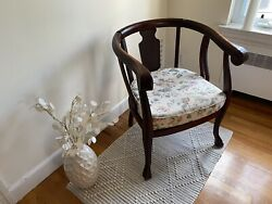 Vintage Larkin Soap Co. Round-back Mahogany Parlor Chair Made In Usa