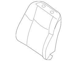 Genuine Nissan Seat Back Assembly 87600-5aa4a