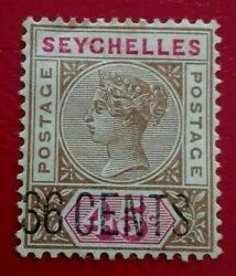 Seychelles 1896 Queen Victoria New Values Stamp. Rare And Collectible Stamp.
