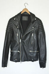 Awesome Sauce Allsaints Mens Kane Leather Biker Jacket Extra Small Xs