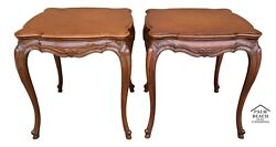 2 Tall 27 Weiman Heirloom French Solid Mahogany End Side Nightstand Tables