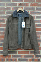 Awesome Sauce Allsaints Mens Wilmont Suede Trucker Jacket Medium 2 Leather