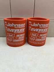 Evinrude Johnson Outboard Racing Formula 1 V8 Can Coozie Koozie You Get Two