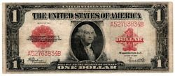 1923 1 One Dollar Andldquohorse Blanketandrdquo Silver Certificate Red Seal