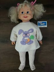 Vintage 1986 Cricket Playmates Doll With Cassette Easter Bunny Outfit Tested