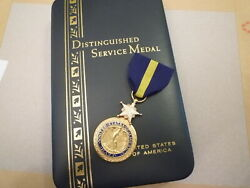 Us Early Post War Distinguished Service Medal Li-gi Hallmark - In Box Of Issue