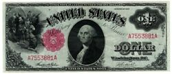 1917 1 Large Size U.s. Legal Tender Note One Dollar Red Seal Bill Amazing