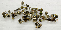 Curtis Jere Mid Century Modern Raindrops Mixed Metal Wall Sculpture Signed 65andrdquo