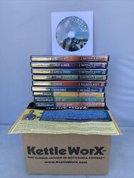 Kettleworx Dvd Lot Set X10 Workouts- Complete Fitness Exercise-new In Box
