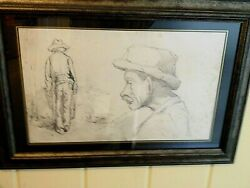 Pissarro Drawing Authentic. Vintage. Examined By Christyand039s Fine Art Auctions