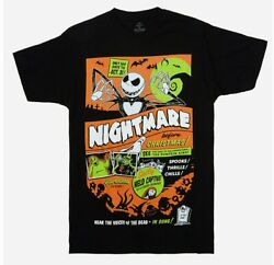 Jack Skellington The Nightmare Before Christmas Neon Poster T-shirt New