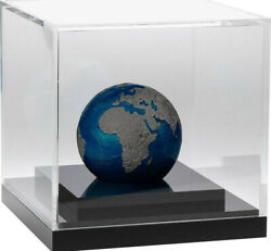 Blue Marble At Night - Planet Earth - 2021 Pure Silver Spherical Coin - Barbados