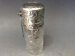 Rare Silver Scent Perfume Bottle Atomizer By Worrall 1908