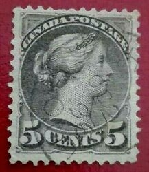 Canada 1870 -1894. Queen Victoria 5 C. Rare And Collectible Stamp.