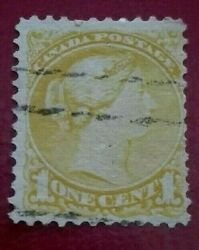 Canada 1870 -1894 Queen Victoria 1 C. Rare And Collectible Stamp.