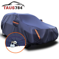 17ft Full Car Cover Universal Suv Fits Peva Waterproof Auto Protection With Lock