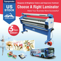 Us Stock Qomolangma 110v 55in Wide Format Heat Assisted Roller Cold Laminator