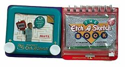 New Klutz Pocket Etch A Sketch 4 X 3.5 Ohio Art With Book And See-thru Screens