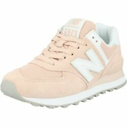 New Balance 574 Smoked Salt/white Leather Adult Trainers Shoes