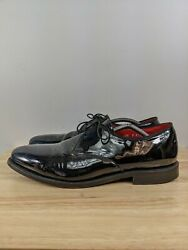 Allen Edmond Kendall Oxford Shoes Patent Leather Tux Men Size 10.5 D Made In Usa