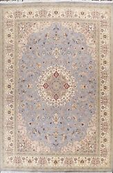 Floral Traditional Medallion Oriental Area Rug Hand-knotted Wool/ Silk 9x13 New