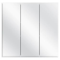 30-3/8 In. W X 30-3/16 In. H Frameless Surface-mount Tri-view Bathroom Medicine
