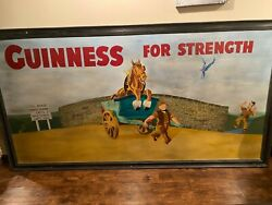 Guinness For Strength Vintage Picture 8' Long X 40 Wide