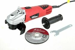 6 Amp Corded Angle Grinder With Handle Adjustable Guard 4-1/2 Inch Hyper Tough