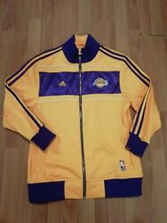 Adidas Los Angeles Lakers 2010 Championship Ceremony Jacket Hoodie Size Xs