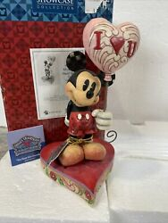 New Rare Jim Shore Mickey Mouse Love You Heart Balloon Keep Me Grounded 4026087