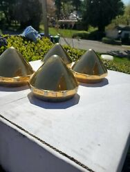 Gold Dayton Bullet Knockoffs Wire Wheels Spokes 6390 Spinners