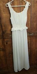 Vintage Night Gown Luxite By Holeproof Sz 36 Small Nylon Negligee Ivory Goddess