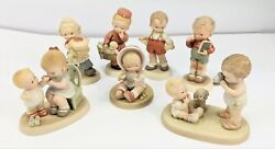 Memories Of Yesterday Collectible Porcelain Figurines Lot of 7 Enesco