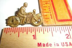 Early Harley Or Indian Pin Vintage 30s Collectible Usa Motorcycle Memorabilia