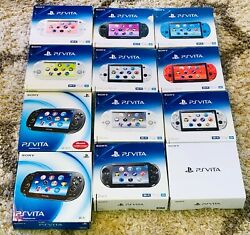 Sony Playstation Psv Ps Vita 1000 2000 Slim Fat Oled Console In Box Choose A+