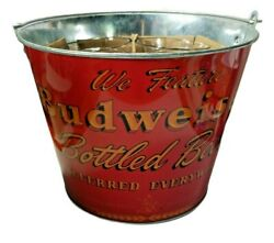 Retro Budweiser 5 Piece Glasses And Ice Bucket Beer Bar Gift Set
