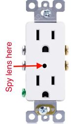 1080p Hd Wall Ac Wifi Decora Functional Receptacle Outlet Hidden Spy Camera
