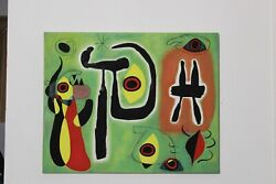 Miro Red Sun Eats Spider Genuine Reproduction Lrg Oil On Canvas 75x60cm