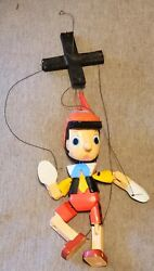 Vintage Carved Handpainted Wooden Marionette Puppet Pinocchio 11